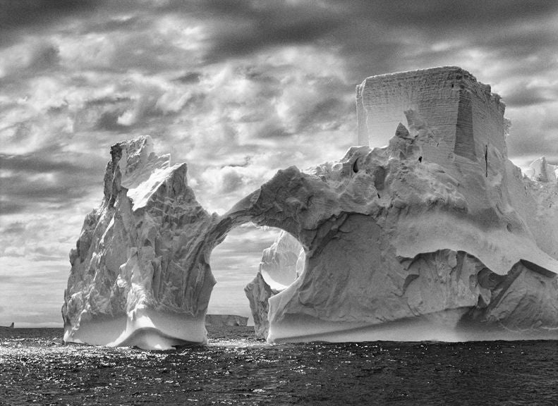 Iceberg between the Paulet Island and the South Shetland Islands, Antarctica - Photograph by Sebastião Salgado