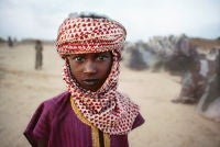 Boy in Red and White Scarf, The Sahel, Bamako, Mali, Africa