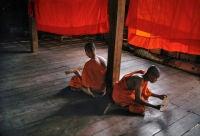 Novice Monks Studying, Monastery, Angkor Wat