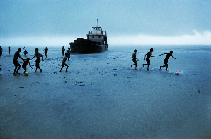 Children Playing Football, Sitwe, Burma