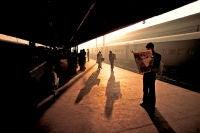 Train Platform at Old Delhi, India