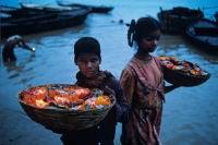 Floating Offerings, Varanasi, India