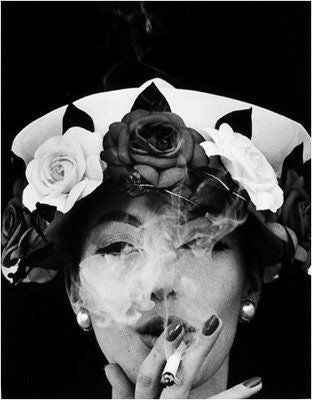 Hat and 5 Roses, Paris Vogue - Photograph by William Klein