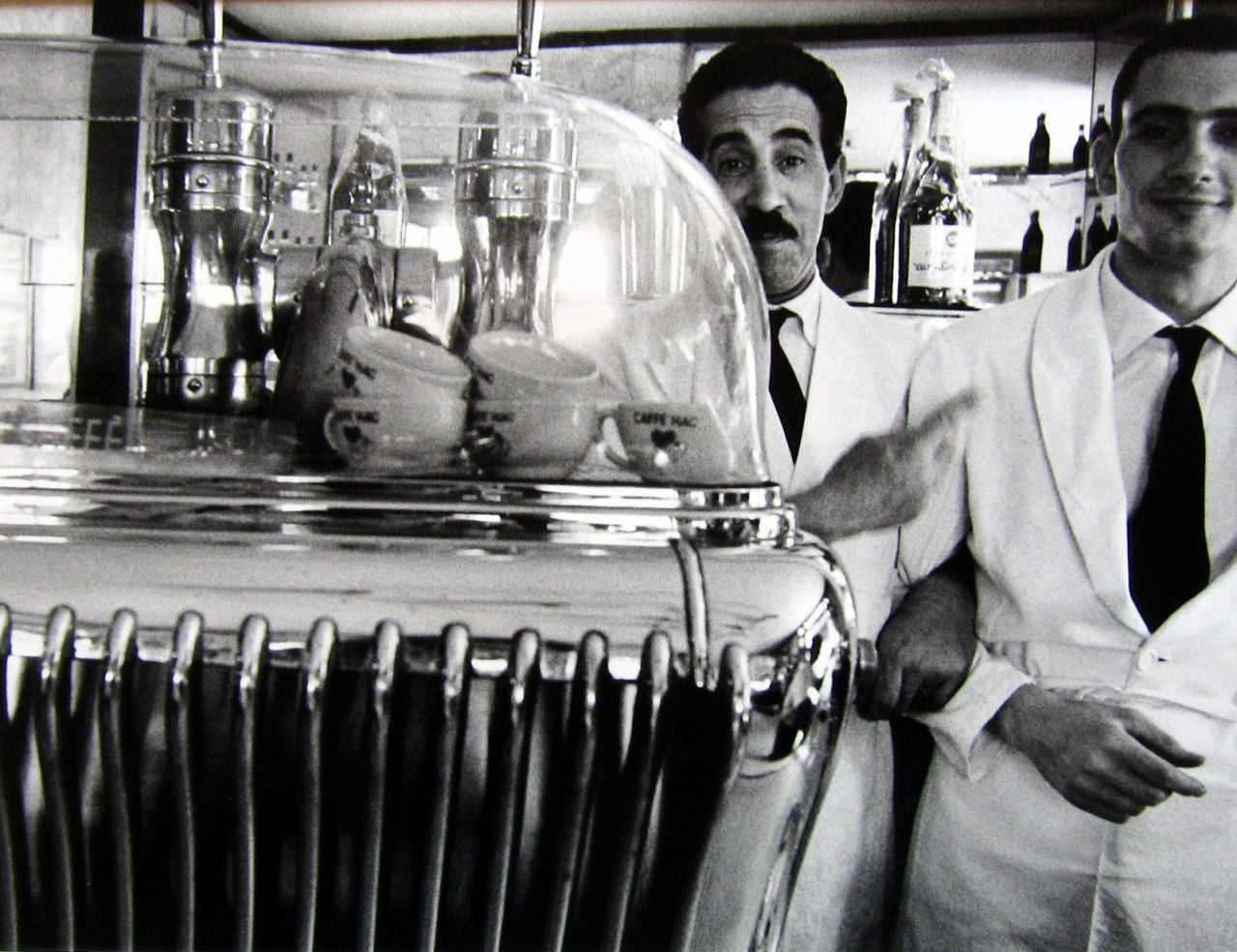 Two Waiters in Café, Rome - Photograph by William Klein