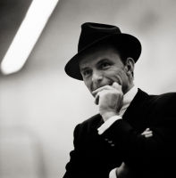 Frank Sinatra, New York City [smiling]