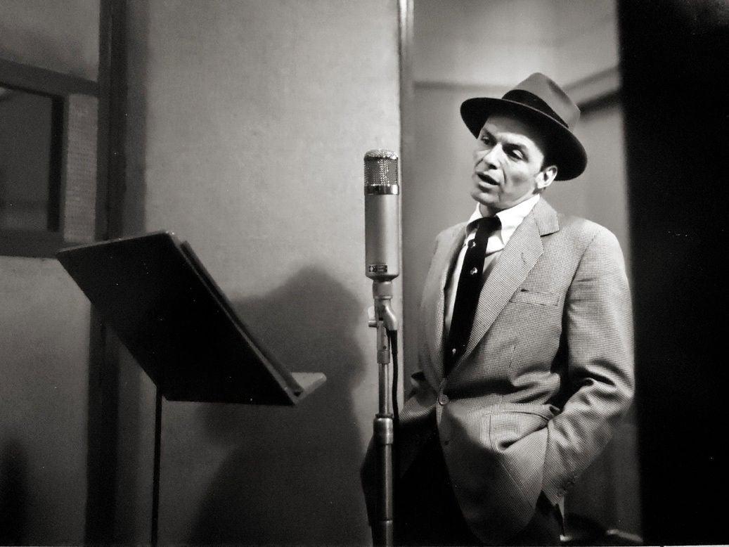 Frank Sinatra, New York City [recording in studio] - Photograph by Herman Leonard