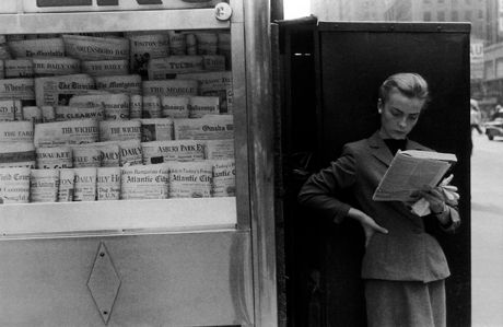 Elbowing Out of Town, News Stand, New York