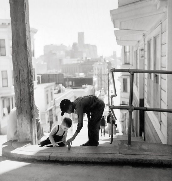 North Beach-Kearny and Fresno, San Francisco - Photograph by Fred Lyon