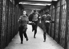 Jean Moreau, Henri Serre and Oskar Wener running (Jules Et Jim) 1961