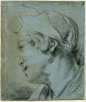 Profile Portrait of a Young Woman