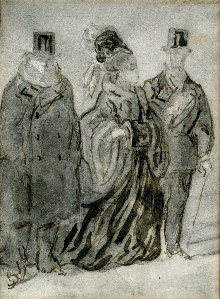 La Promenade - Art by Constantin Ernest Adolphe Hyacinthe Guys