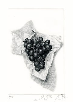 Cluster of Grapes in Folded Napkin