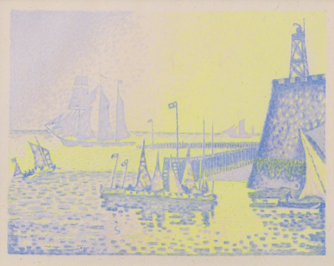Abend or Le Soir La Jetee de Flassingue - Print by Paul Signac
