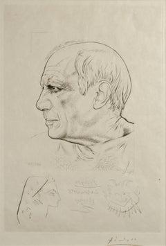 Portrait de Pablo Picasso et Remarque pour Témoignage