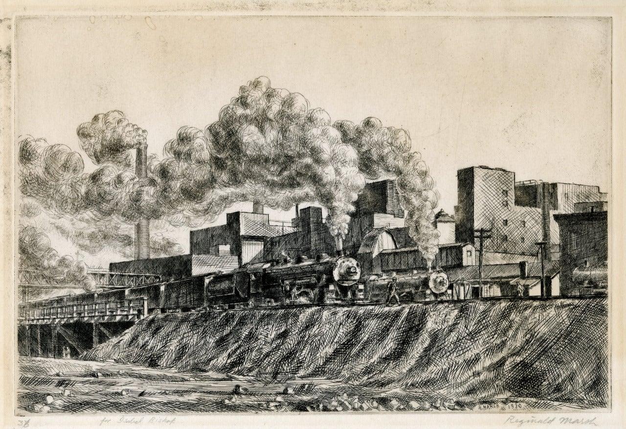 Reginald Marsh Erie R R And Factories Print At 1stdibs