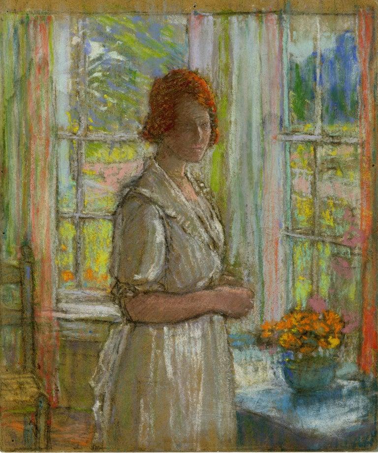Karl Albert Buehr Portrait - untitled Woman by the Windows