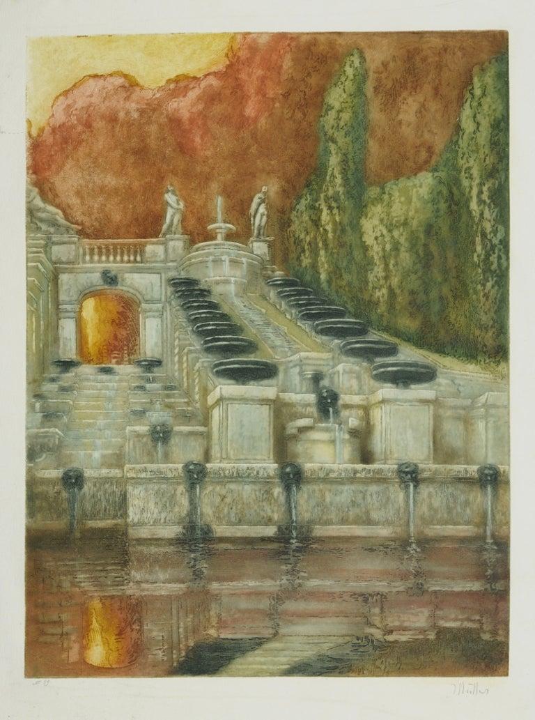 La Grande Cascade de Saint Cloud - Print by Alfredo Müller