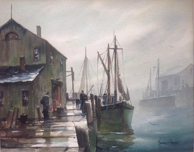 "John Cuthbert Hare Landscape Painting - ""Gloucester Morning"""