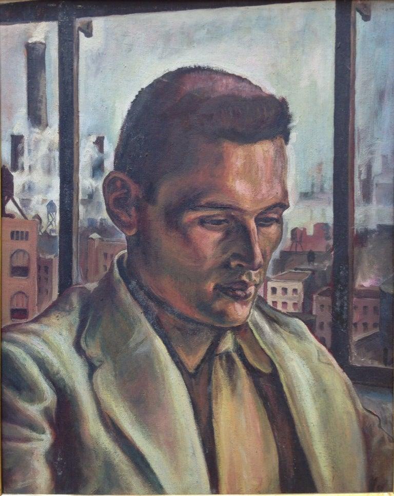 """Joseph Biel Portrait Painting - """"Portrait of Dr. Monroe Mufson"""""""