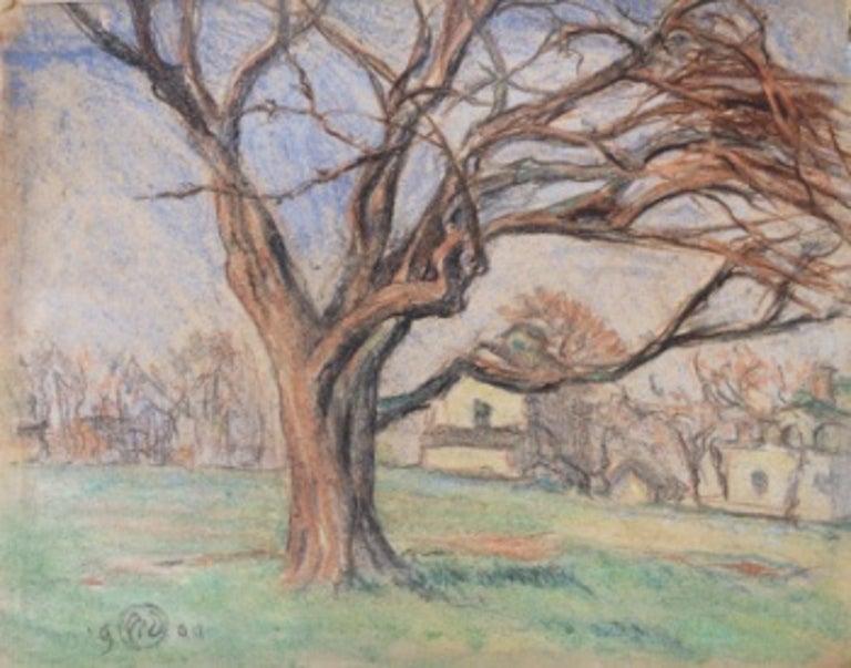 """William Steeple Davis Landscape Painting - """"Orient Landscape"""""""