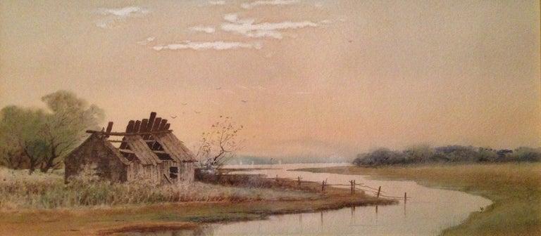 "Samuel R. Chaffee Landscape Art - ""Abandoned House"""