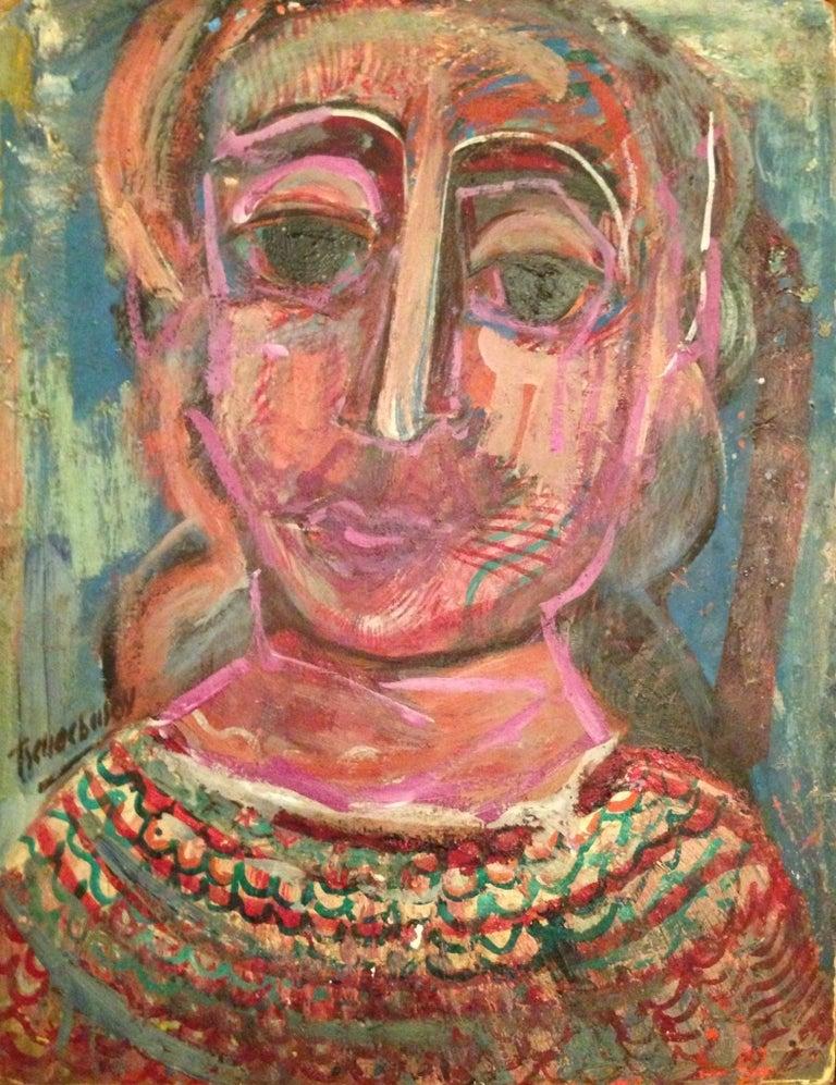 """Nahum Tschacbasov Abstract Painting - """"Surreal Woman"""""""
