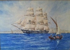"""Portrait of the Black Ball Clipper Montezuma"""