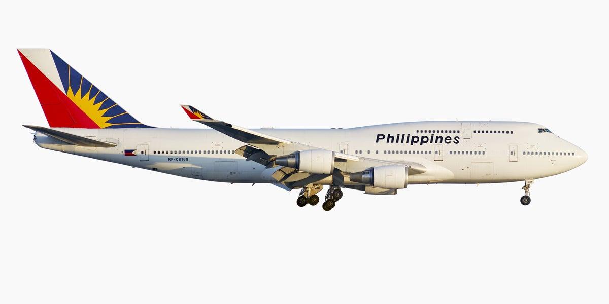 jeffrey milstein philippine airlines boeing 747 400 at