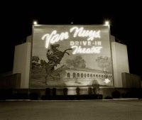 Drive-In Theater, Highway I-5, Van Nuys, California, 1973