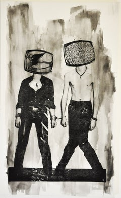 TV Heads (Black and White)