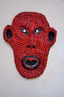 Urban Primitive Mask #10 (red and black)