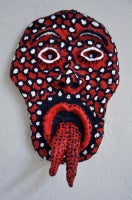 Urban Primitive Mask #11 (black, white and red)