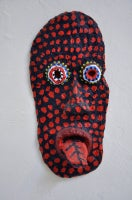 Urban Primitive Mask #12 (black and red)