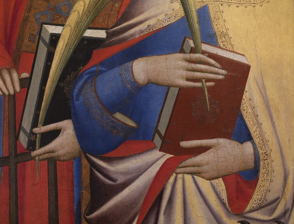 DETAIL FROM: THE SAINTS LAURENTIUS AND CATHERINE, 2008 GIOVANNI GADDI, 1380