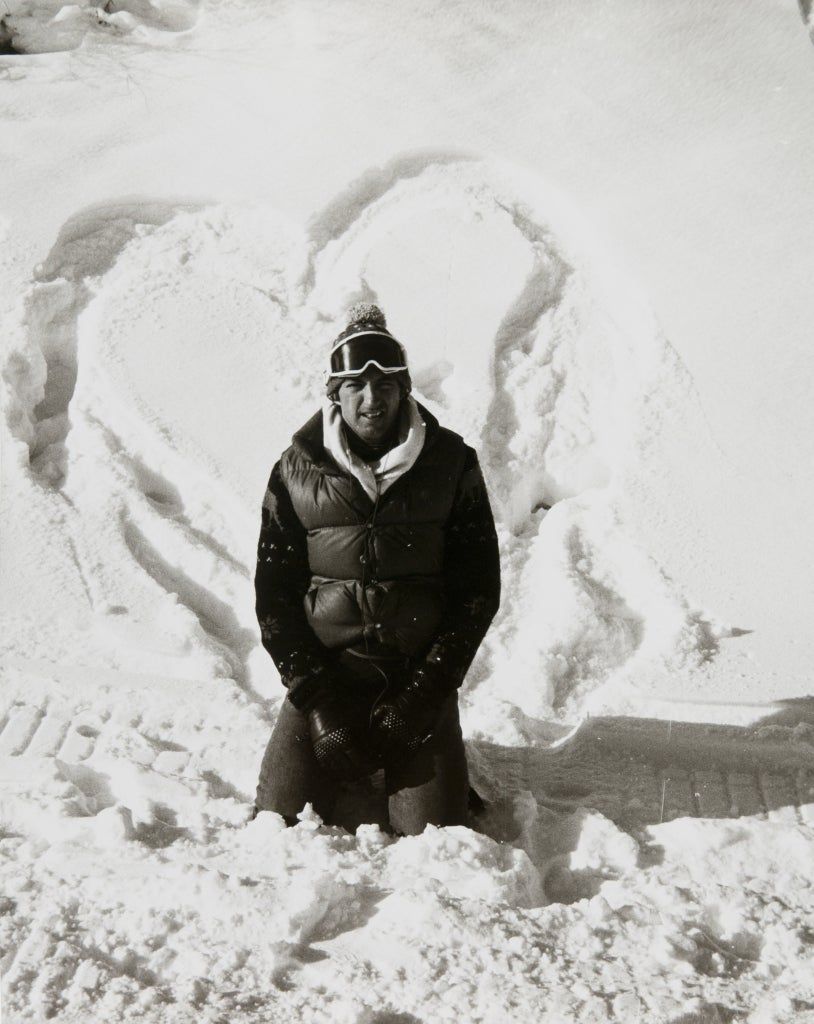 Andy Warhol - Jon Gould in Aspen with Snow Heart ...Jon Gould Warhol