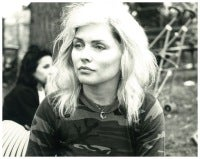 Debbie Harry in Tompkins Square Park wearing a Stephen Sprouse camo tee-shirt