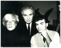 Andy Warhol, Tony Shafrazzi and Ronnie Cutrone