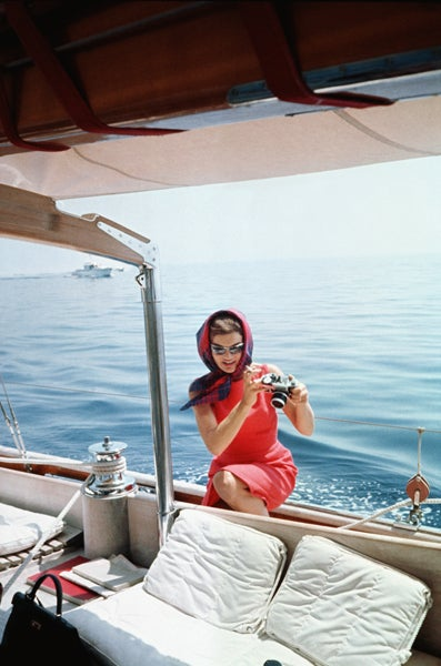 Mark Shaw Color Photograph - Jackie Kennedy in Ravello #1, 1961
