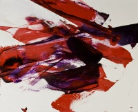 Luis Feito, Abstract Red and Black, Oil on canvas, 2567