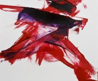 Luis Feito, Abstract Red and Black, Oil on canvas, 2574