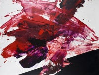 Luis Feito, Abstract Red and Black, Oil on canvas, 2473
