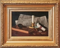 """Still Life with Newspaper and Pipe"""