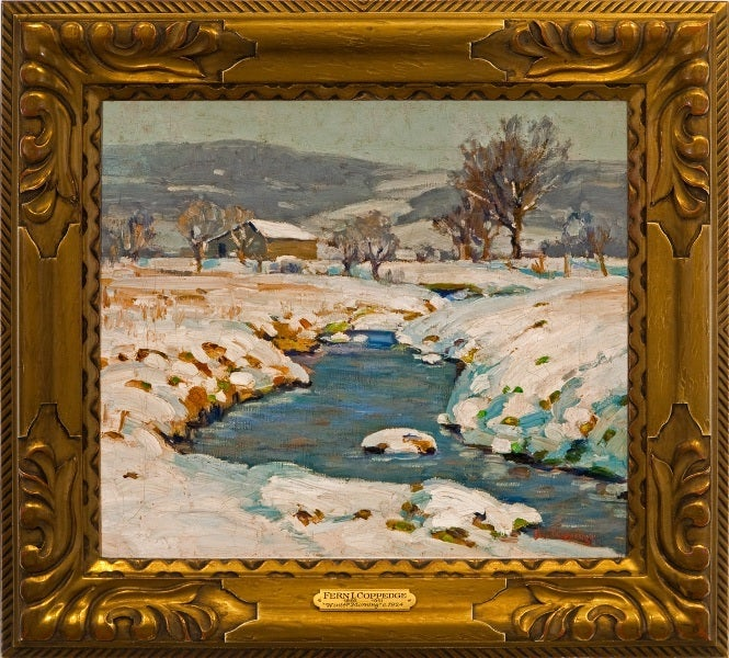 Fern Isabel Coppedge Quot Winter Morning Quot Painting For Sale