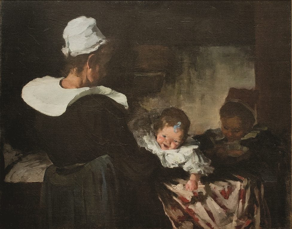 """""""The Brittany Family"""" - Painting by Martha Walter"""