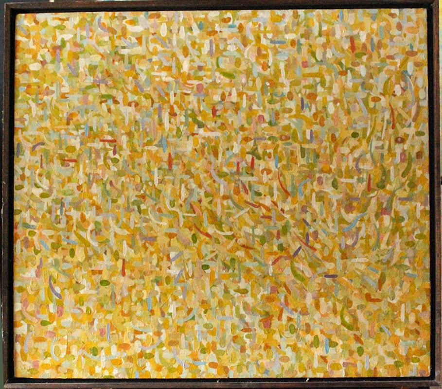 Stuart Bigley Abstract Painting - Abstraction in Yellows