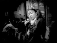 Pony tails, piercing glance and a cigarette, Shibuya, Tokyo