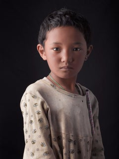 Portrait, Little girl, India, Tibetan,