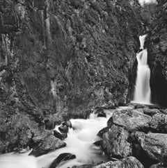 Flume, black and white landscape photograph