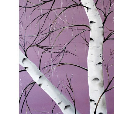 Allison Green Landscape Painting - Purple Lovers
