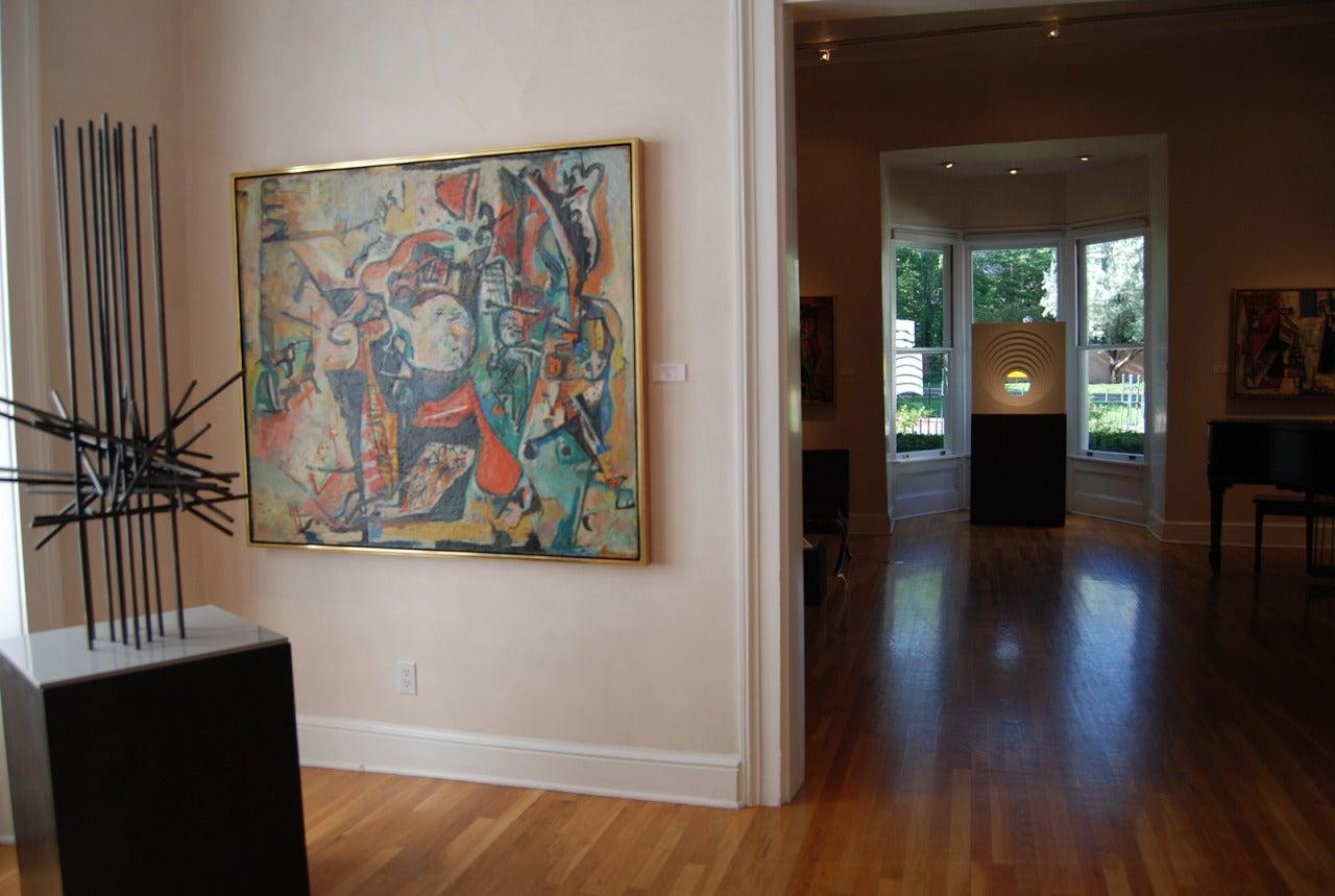 Paul Burlin Untitled Sports Dreams Painting At 1stdibs